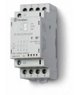 Stykač instalační, 3Z+1R/25 A, 24 V AC/DC, přepínač