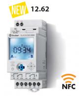 Hodiny spínací, el., 2P/16A, 230V AC, TP, NFC
