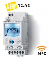 Hodiny spínací, astr., 2P/16A, 230V AC, TP, NFC