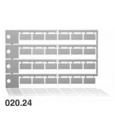 Popisný štítek - matice 020.24, 10 matic